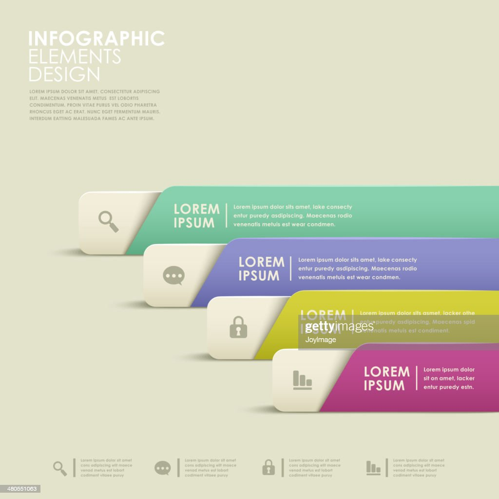 abstract banner infographics : Vector Art