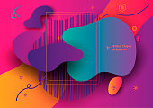 Abstract Banner with Ultra color gradient shape