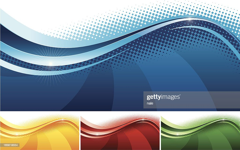 Abstract banners set one