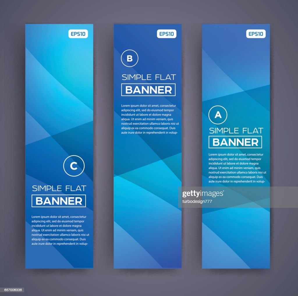 Abstract Banners. Vector Eps10 Backgrounds