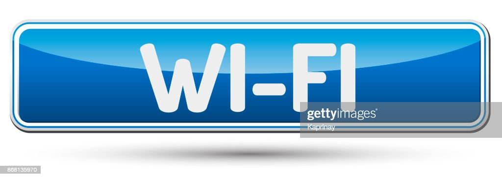 WI-FI - Abstract beautiful button with text.
