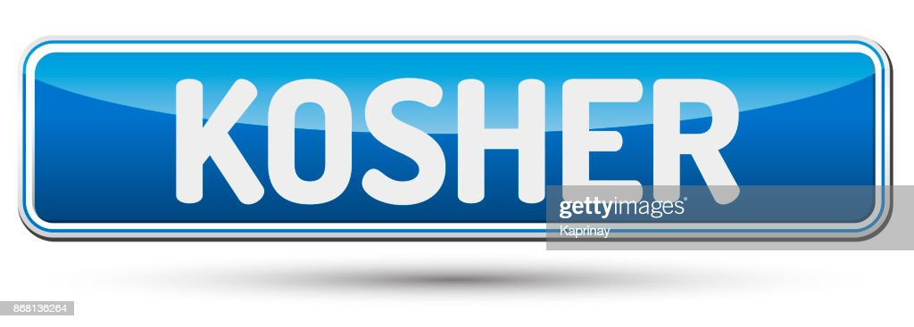 KOSHER - Abstract beautiful button with text.