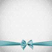 Abstract Beauty Background with Bow and Ribbon. Vector Illustration