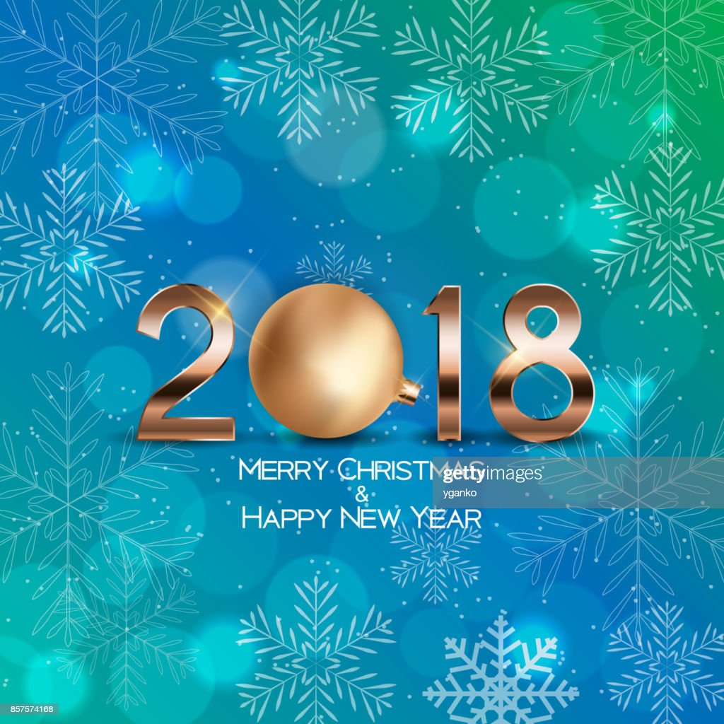 abstract beauty christmas and 2018 new year background vector illustration vector art
