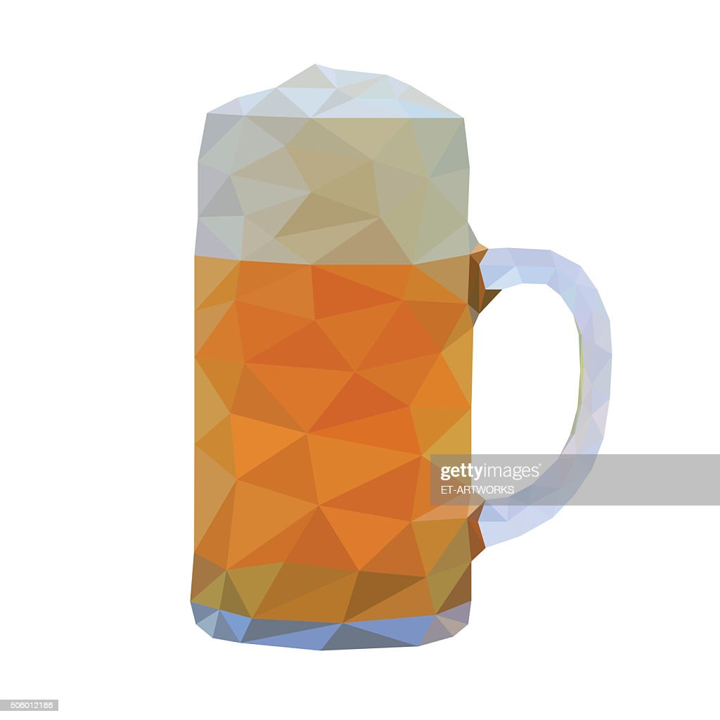 Abstract beer. Vector