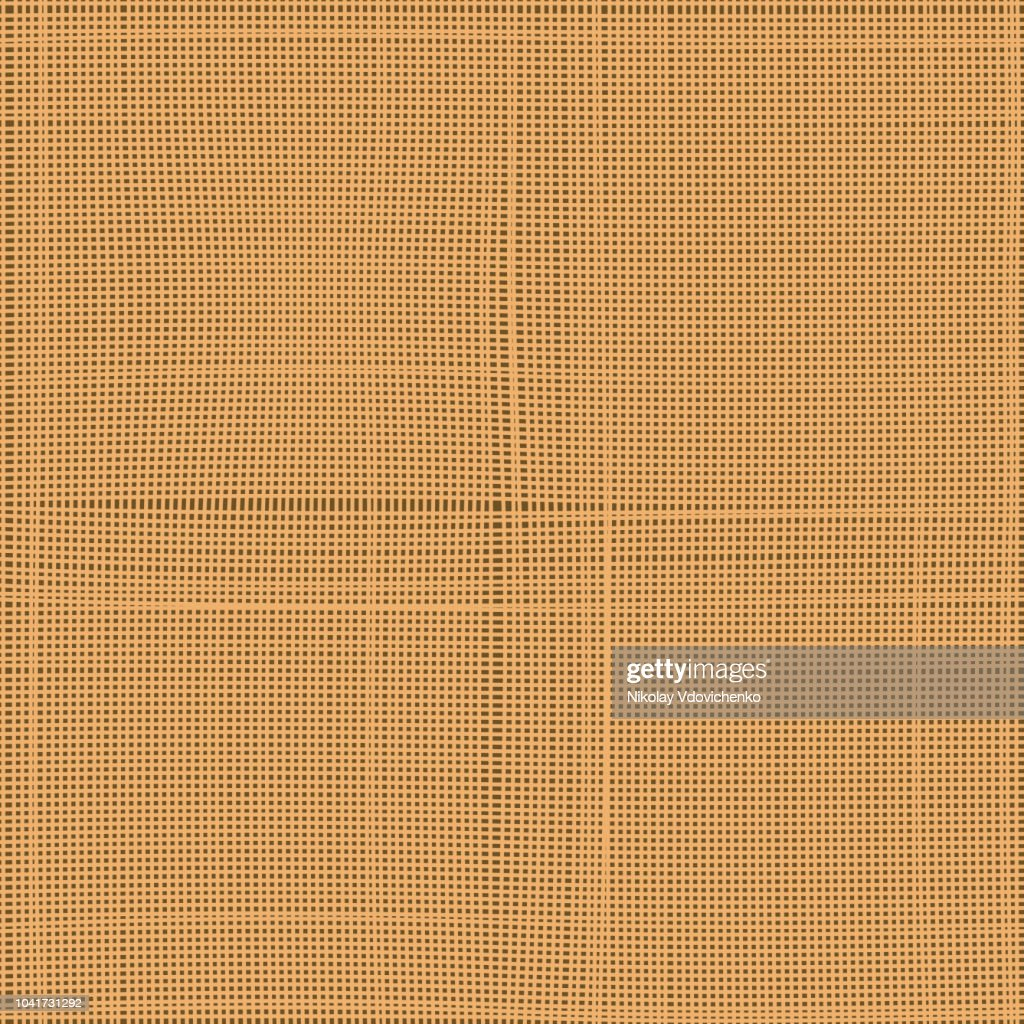 Abstract beige texture of canvas linen fabric background. Vector illustration. Seamless vector pattern.
