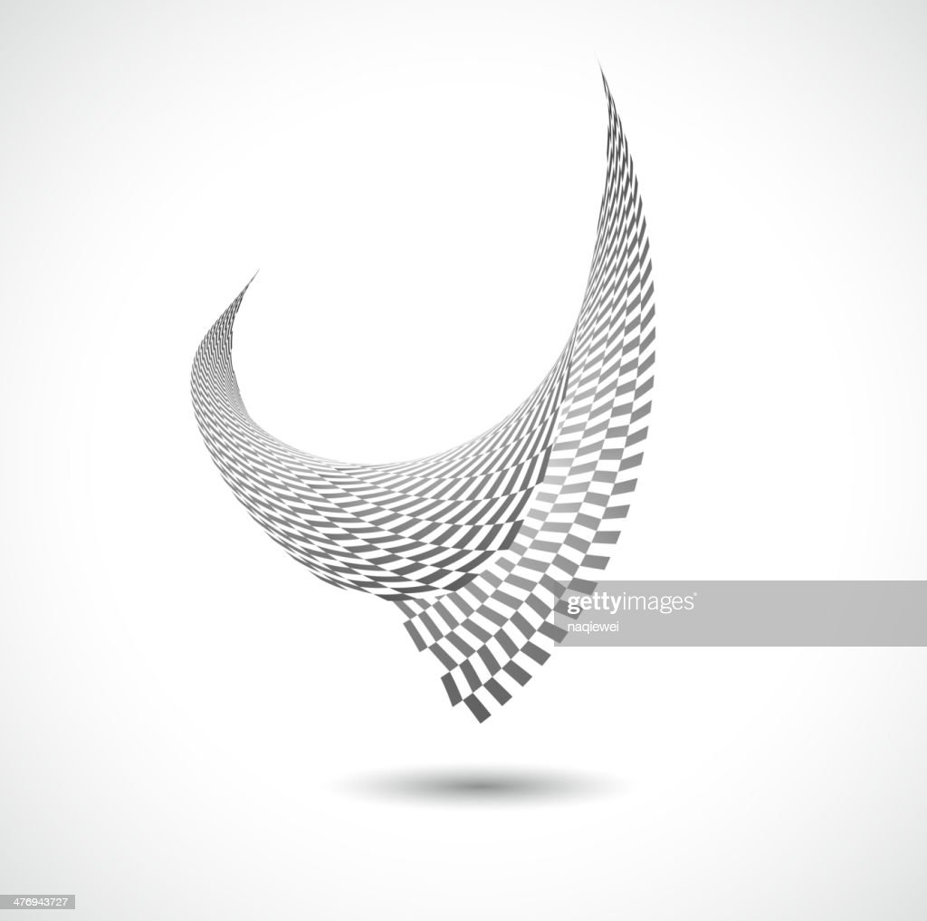 abstract black and white bird pattern background