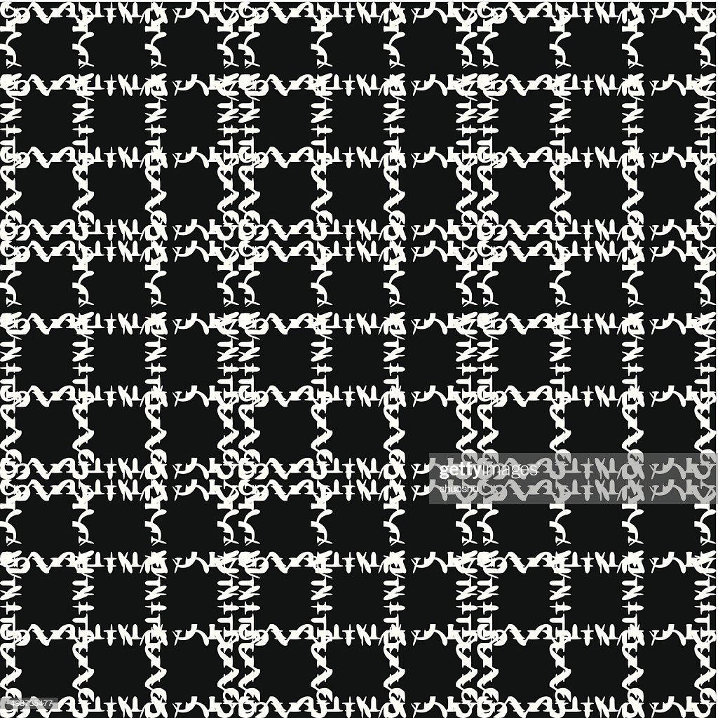 abstract black and white check pattern background
