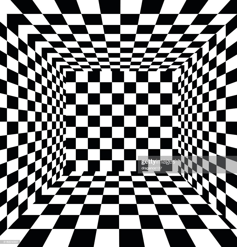 Abstract black and white checkered background