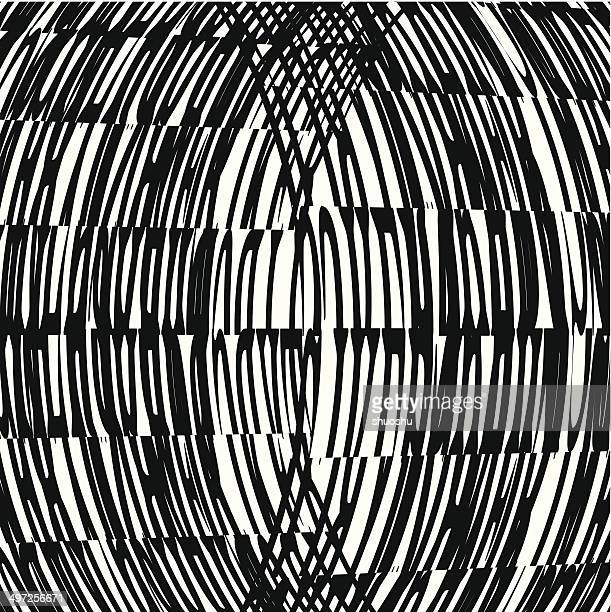 abstract black and white curve pattern background - flare stack stock illustrations, clip art, cartoons, & icons