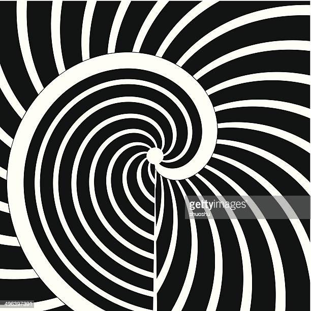 abstract black and white curve stripe pattern background