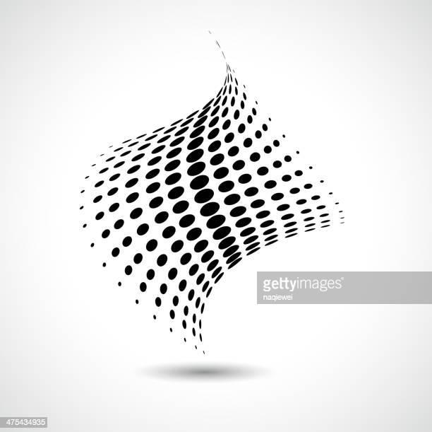 抽象的なブラックとホワイトのドットパターンの背景