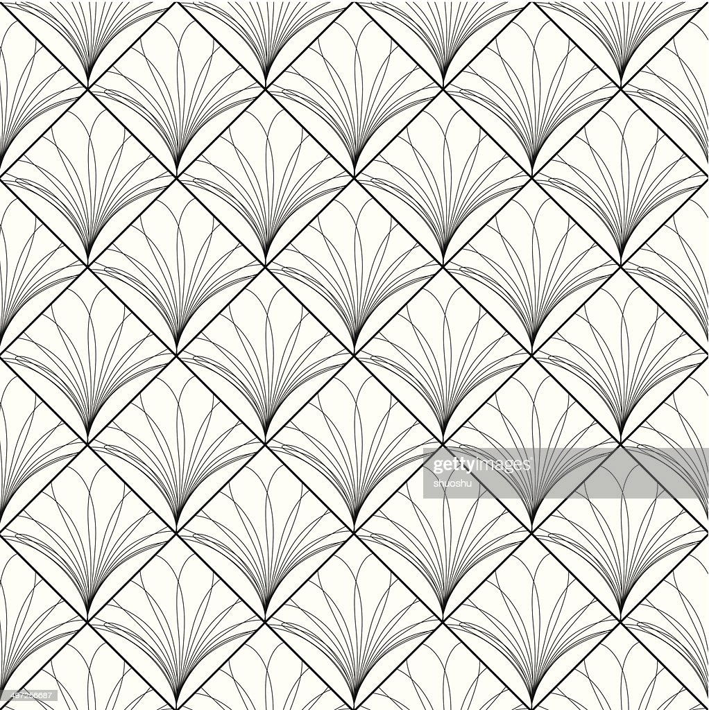 Abstract Black And White Floral Pattern Background High Res Vector