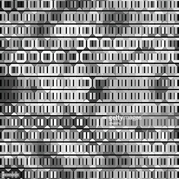 抽象的な黒と白の六角形模様の背景 - 毛穴点のイラスト素材/クリップアート素材/マンガ素材/アイコン素材