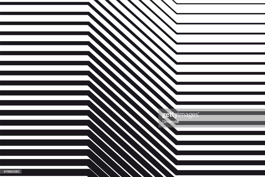 Abstrakte schwarz-weiß Op-Art-Hintergrund : Stock-Illustration