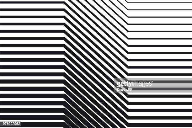 abstract black and white op art background - line stock illustrations