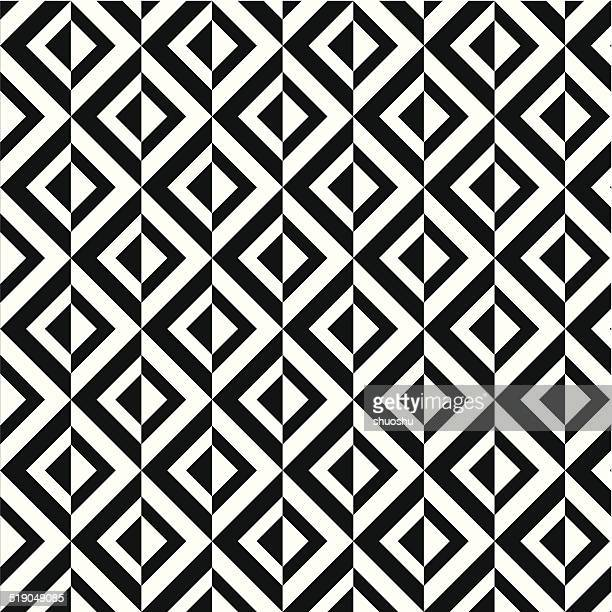 abstract black and white rhombus decoration pattern background