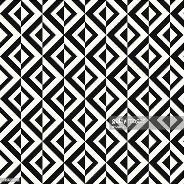 Abstrakt schwarz und weiß rhombus Dekoration Muster Hintergrund