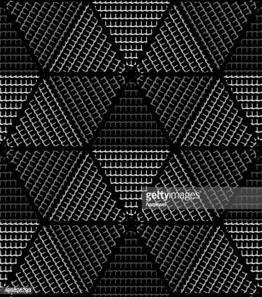Abstrakt schwarz und weiß rhombus-Muster Hintergrund