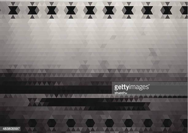 abstrakt schwarz und weiß rhombus-landschaft im hintergrund - felsspitze stock-grafiken, -clipart, -cartoons und -symbole