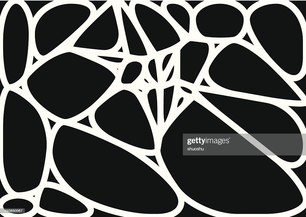 abstract black and white speckle shape background : Illustrationer
