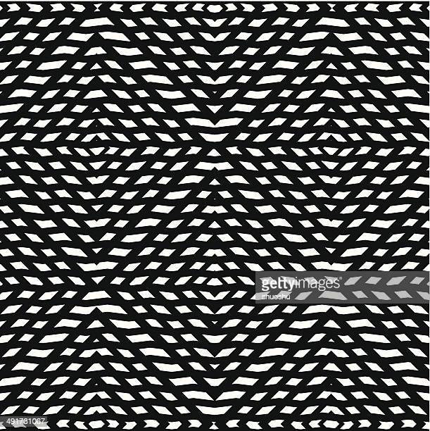 abstract black and white stripe pattern background - tribal art stock illustrations