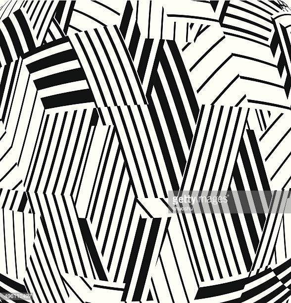 abstract black and white stripe pattern background - printout stock illustrations