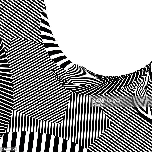 abstract black and white stripe shape background - mammal stock illustrations, clip art, cartoons, & icons