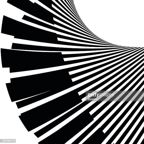 abstract black and white stripe shape background - piano stock illustrations, clip art, cartoons, & icons
