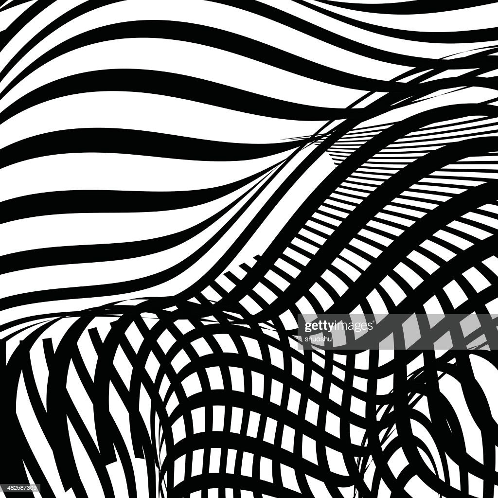 abstract black and white stripe shape background