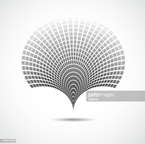 abstract black and white technology concept shape background