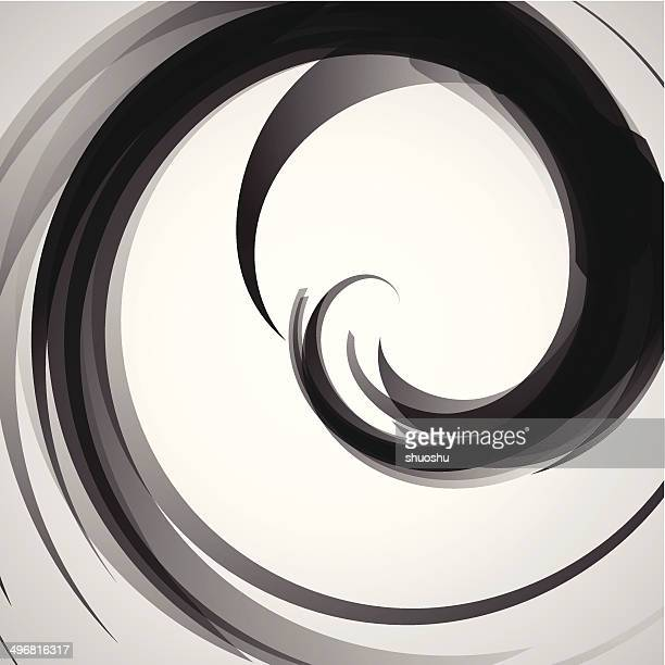 abstract black and white transparency curve pattern background