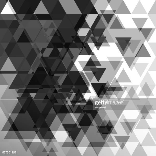 Abstracto blanco y negro de patrones de fondo de triángulo