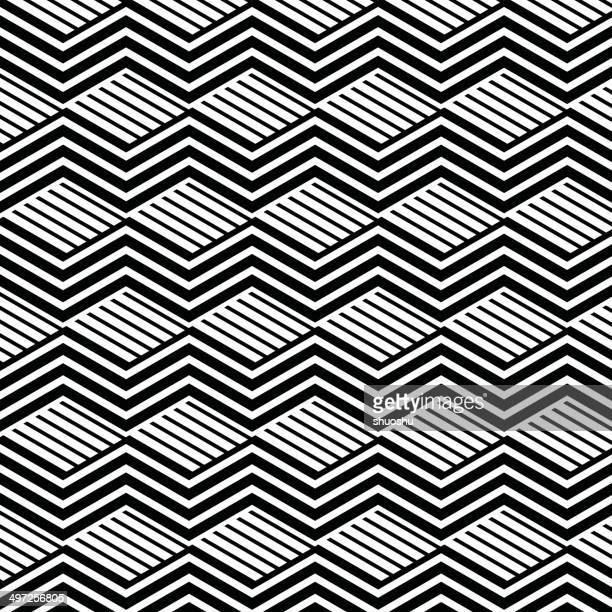 abstract black and white wave stripe pattern background - optical instrument stock illustrations, clip art, cartoons, & icons