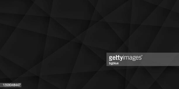 illustrations, cliparts, dessins animés et icônes de fond noir abstrait - texture géométrique - couleur noire