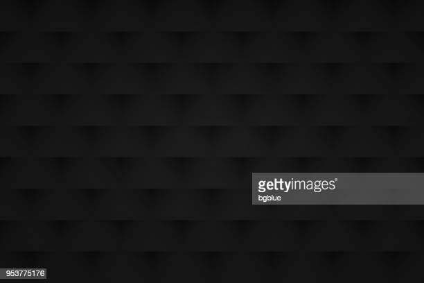 ilustrações, clipart, desenhos animados e ícones de abstrato preto - textura geométrica - fundo preto