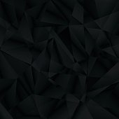 Abstract black background, triangle pattern