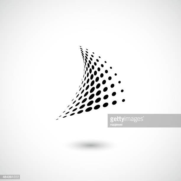 Abstrakte schwarzen Punkten Muster-Symbol für design