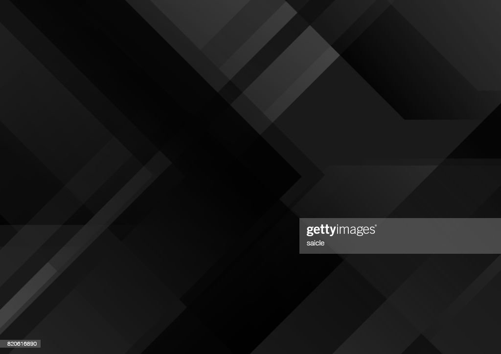Abstract black tech geometric background
