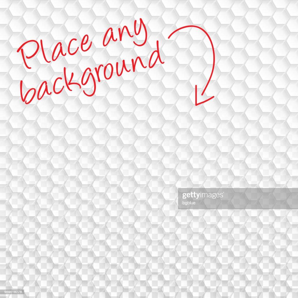 Abstrakte leeren Hintergrund - transparente geometrische Struktur : Stock-Illustration