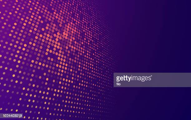 abstract blend modern tech dots background - purple stock illustrations