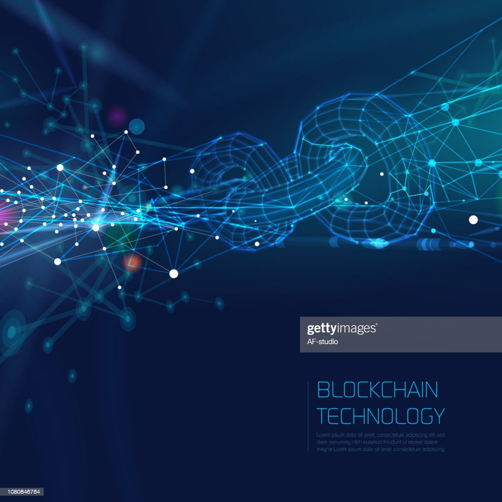Abstract Blockchain Network Background : stock illustration