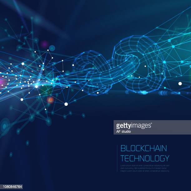 Abstract Blockchain Network Background