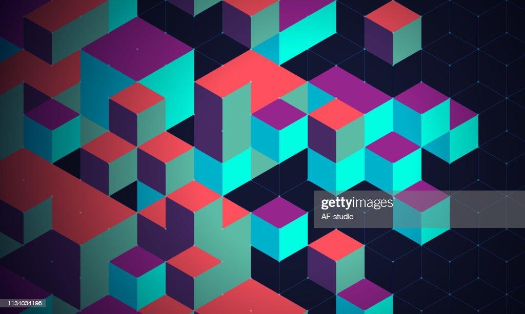 抽象的なブロックチェーンネットワークの背景 : ストックイラストレーション