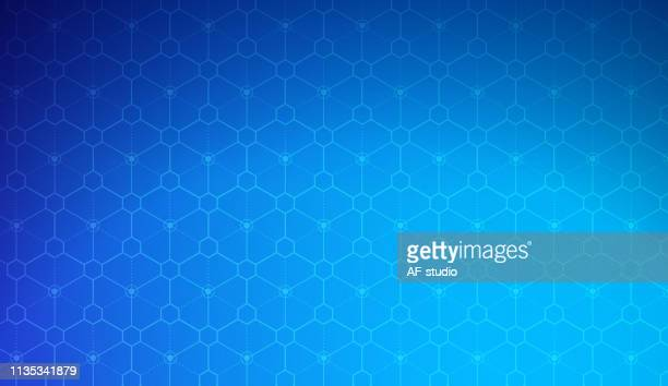 抽象的なブロックチェーンネットワークの背景 - 仮想通貨マイニング点のイラスト素材/クリップアート素材/マンガ素材/アイコン素材