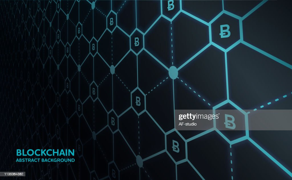 Abstract Blockchain Network Background : stock vector