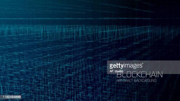 抽象ブロックチェーンネットワークの背景 - 仮想通貨マイニング点のイラスト素材/クリップアート素材/マンガ素材/アイコン素材