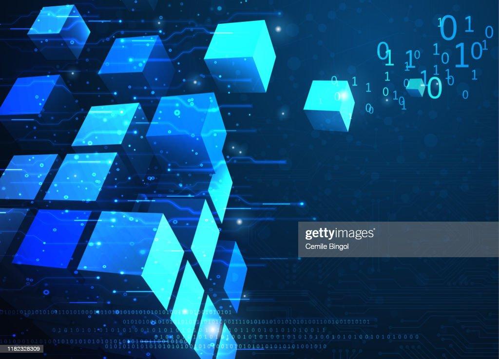 抽象ブロックチェーンネットワークの背景 : ストックイラストレーション