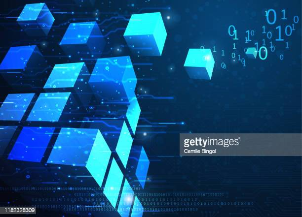 抽象ブロックチェーンネットワークの背景 - 仮想通貨点のイラスト素材/クリップアート素材/マンガ素材/アイコン素材