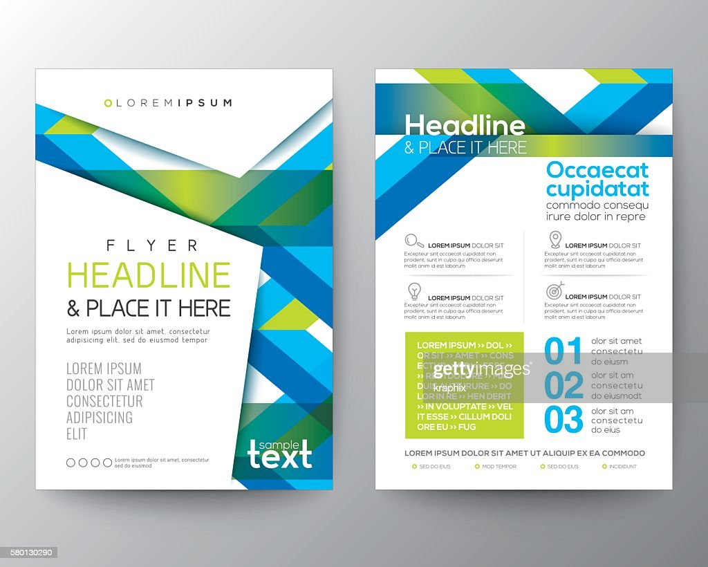 Abstract blue and green background for Poster Brochure Flyer design